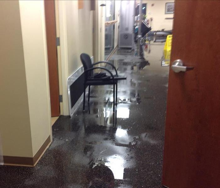Flooded rehabilitaion center in Winnetka Before